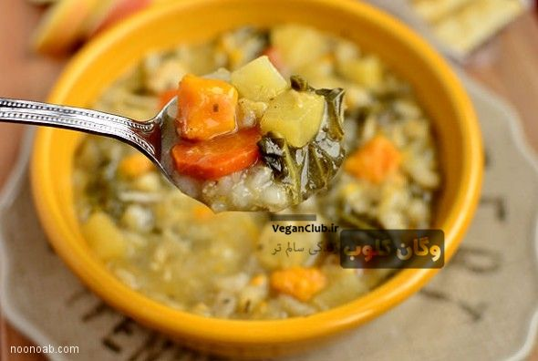 سوپ گیاهی بهاری برای صبحانه یاچاشت