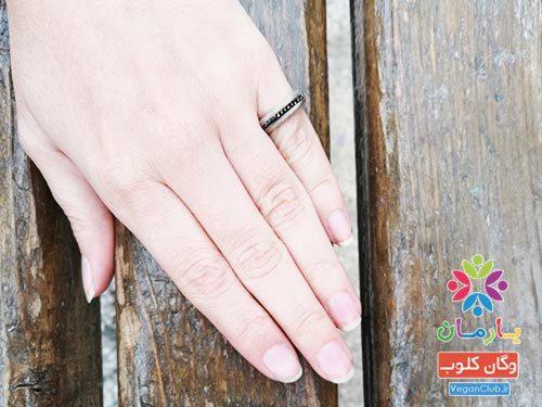 انگشتر طرح چوبی ۲