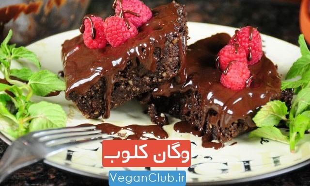 تصویر از طرز تهیه کیک شکلاتی وگان